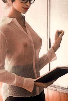 See through blouse small tits