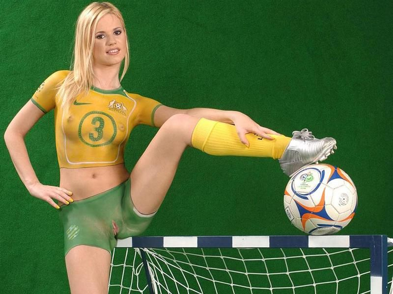 World cup pussy body paint soccer girls hot photo 2