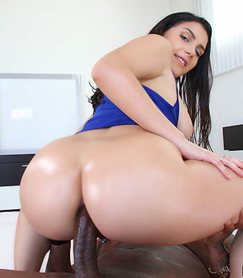 Busty cowgirl rides her saddle porn tube