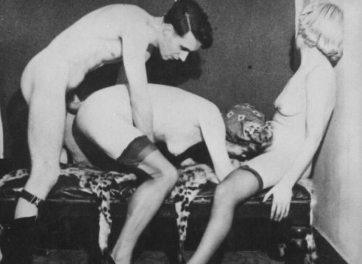 Charley chase dominated and fucked by film crew