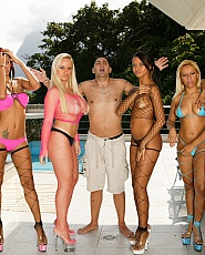 Brazilian orgy party oil overload with marcelinha moraes