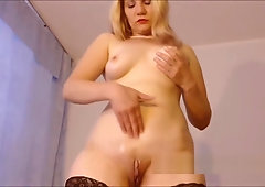 Standing solo orgasm porn tube video
