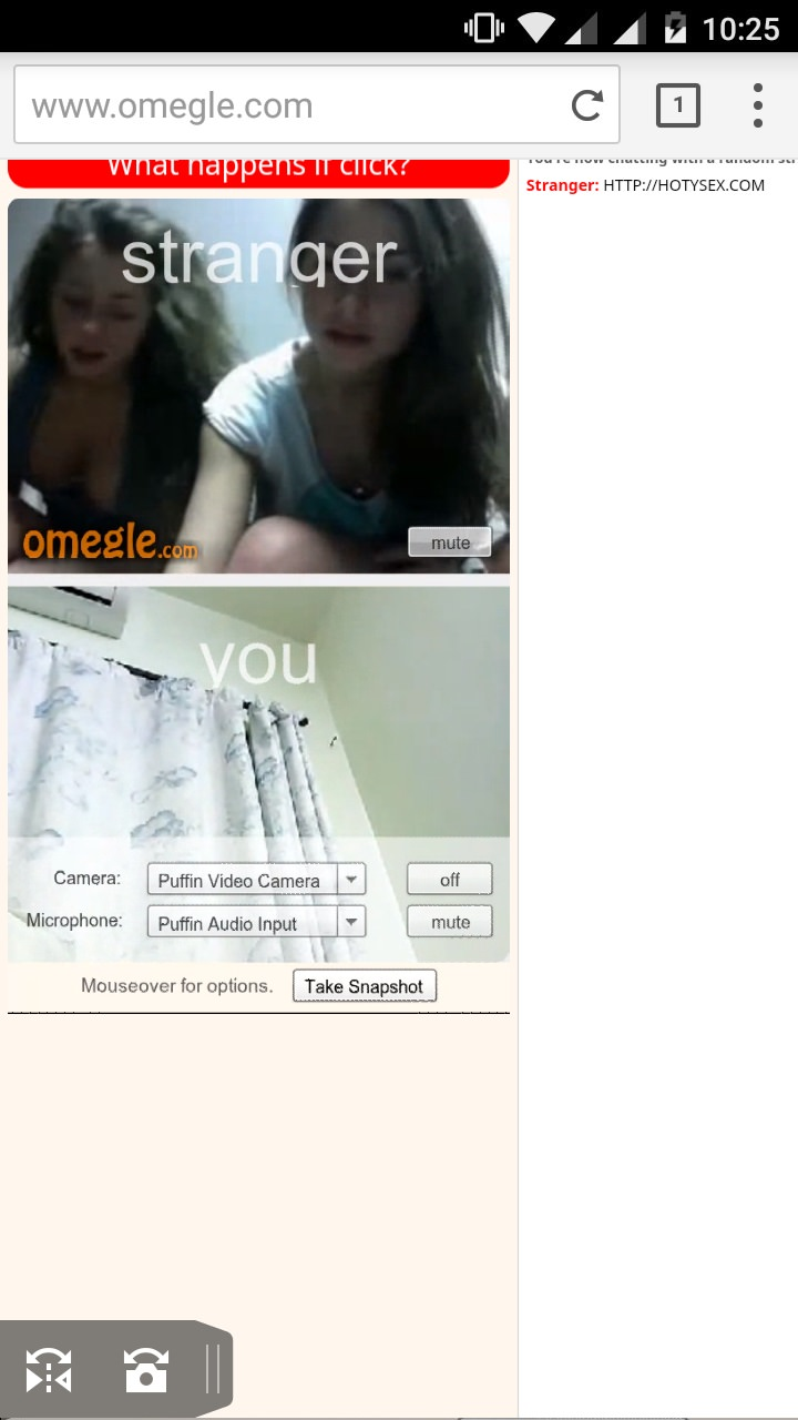 Omegle video without camera