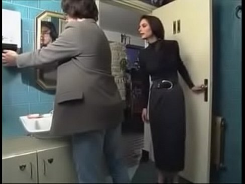 French milf fucked lover in toilet of a restaurant
